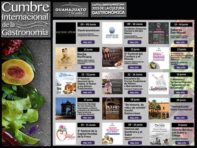 Guanajuato sí sabe: Cumbre Internacional de la Gastronomía hasta el 21 de junio de 2015