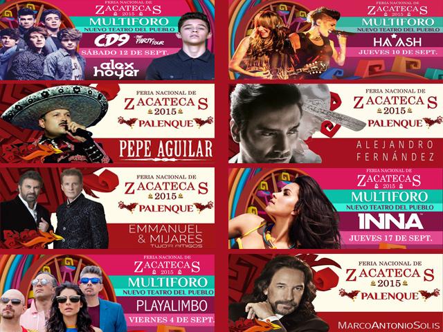 Todos los Conciertos de la Feria Nacional de Zacatecas 2015