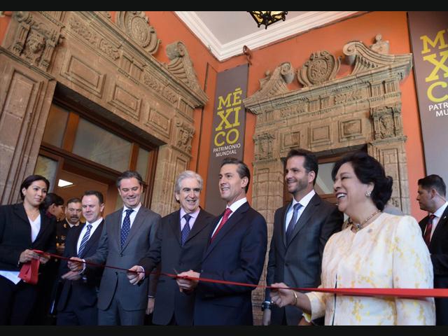 "Presidente Peña Nieto inauguró la sala ""México, Patrimonio Mundial"""