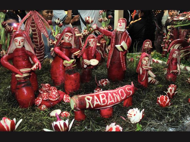 118 Noche de Rábanos, 23 de diciembre 2015 en Oaxaca