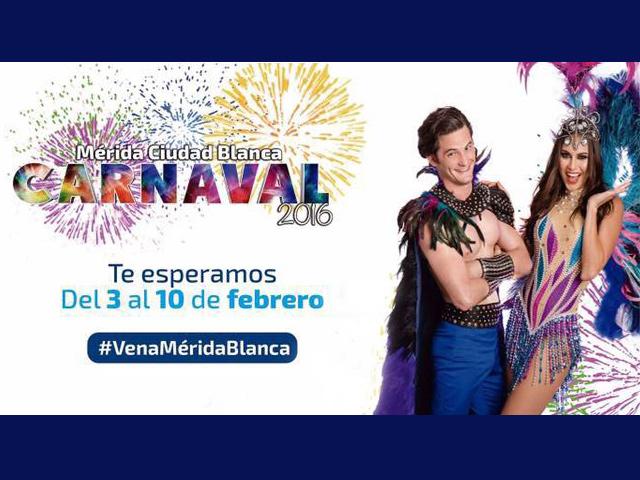 Eventos y artistas invitados del Carnaval de Mérida 2016