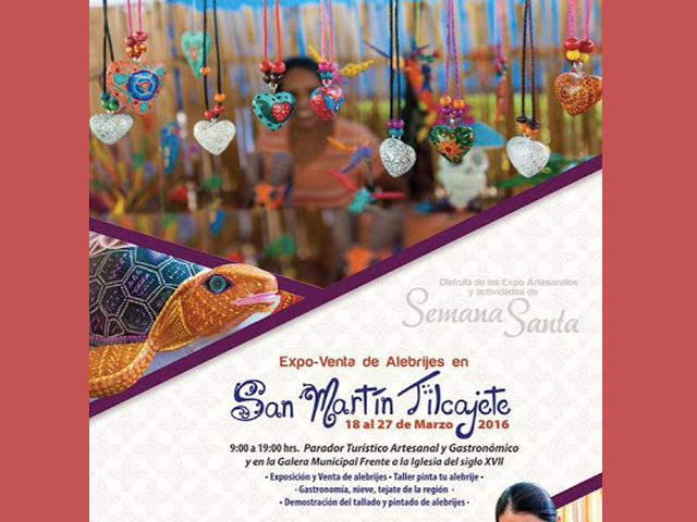 9ª Expoventa de Alebrijes Semana Santa 2016 en San Martín Tilcajete