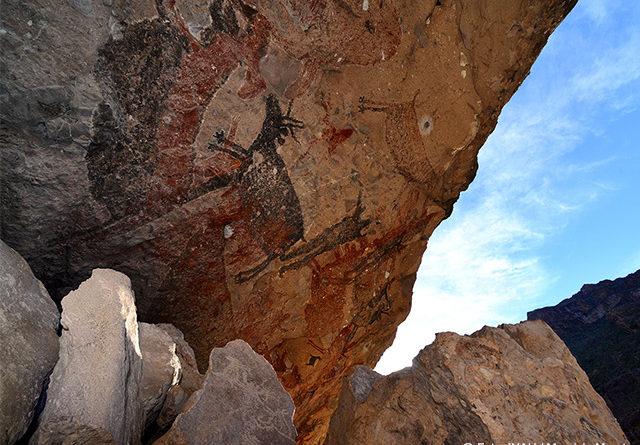 Las pinturas rupestres de la Sierra de San Francisco, Patrimonio de la UNESCO