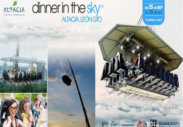 """Comer suspendido a 45 metros de altura…la experiencia """"Dinner in the Sky"""" te espera en León"""