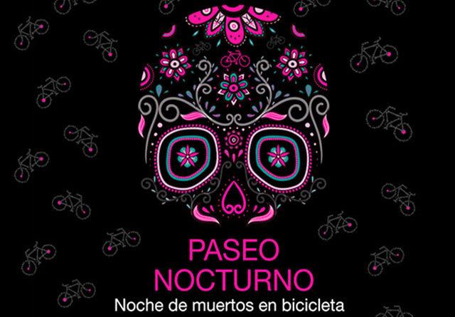 """Regresa el paseo nocturno """"Noche de Muertos en bicicleta"""" en la ciudad de México"""
