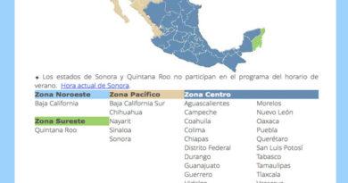 El próximo domingo, casi todo México pasará al Horario de Invierno 2016
