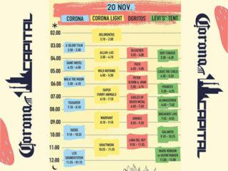 Corona Capital 2016 Line Up 20 noviembre