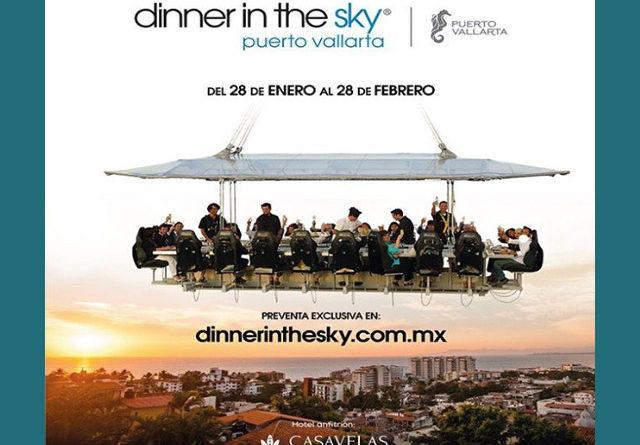 """La experiencia gastronómica única en el mundo """"Dinner in the sky"""" llega a Puerto Vallarta"""