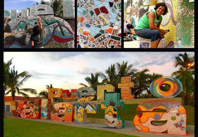 La artista Natasha Moraga quiere tapizar todo Puerto Vallarta de mosaico
