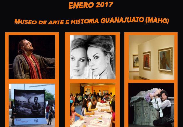 Espectáculos y calendario de actividades - Enero 2017 en el Forum Cultural Guanajuato