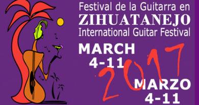 Mañana inicia el Festival Internacional de Guitarra de Zihuatanejo 2017