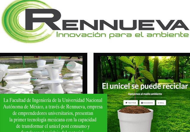 Rennueva, la startup mexicana de la UNAM que recicla unicel después de consumo, es pionera en el mundo
