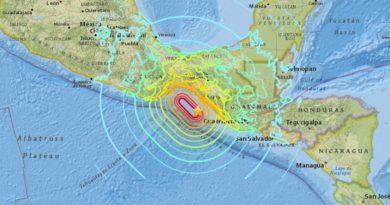 Se registró en México un terremoto de 8,2 grados en la escala Richter, afectando Oaxaca y Chiapas principalmente.