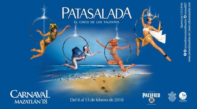 El Carnaval de Mazatlán se llevará a cabo del 8 al 13 de febrero de 2018.