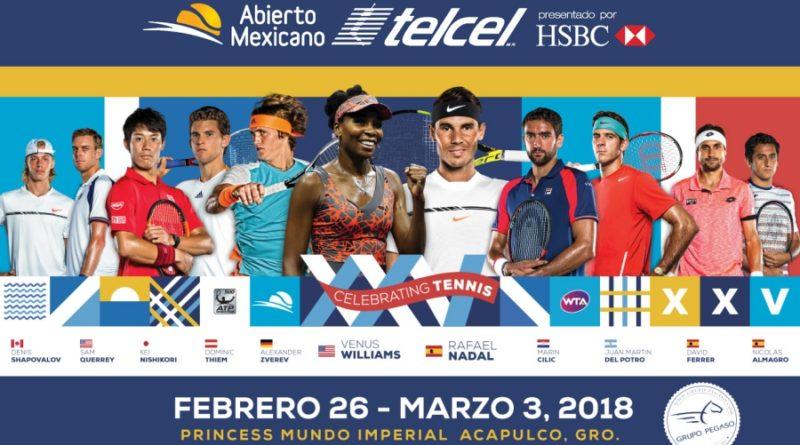El Abierto Mexicano de Tenis cumple 25 años en Acapulco, Guerrero.