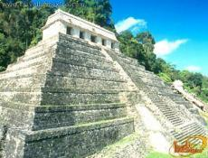Palenque, Palaces surrouded by lush greenry