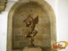 A sculpture found in one of the convent's niches, Ex-Convento del Carmen  (Former Convent )