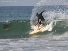 Surfing in Zicatela