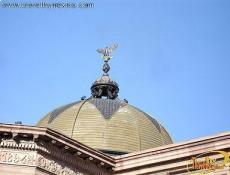 The dome crowned with an eagle, The Theater of Peace- Teatro de la Paz