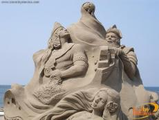 Sand Sculptures in Veracruz