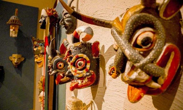 mascaras en el museo rafael coronel